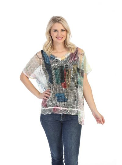 Jess & Jane Plus Size Multi Sheer Dreaming Tunic BC1-1480X