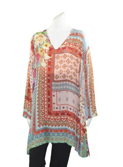 Johnny Was Multi Printed Canvasita Blouse C10118B9