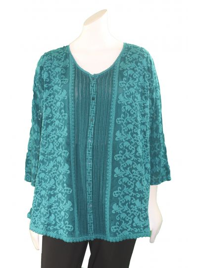 Johnny Was Lakeside Cloudio Flare Blouse C12317-9