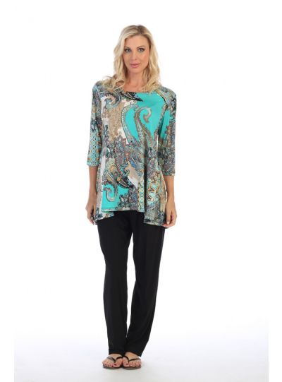 Caribe Plus Size Multi 2 Pocket Tunic XC1431P332