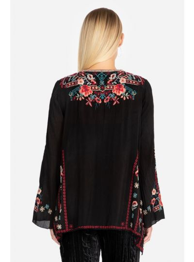 Johnny Was Black/Multi Emb Dulci Tunic C28319-O