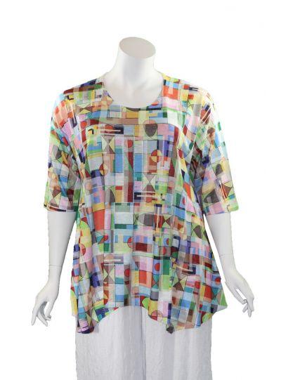 Et'Lois Plus Size Multi Pullover Style Tunic C3281W-146
