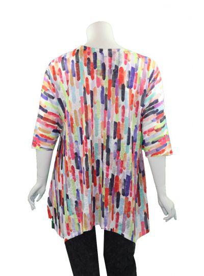 Et' Lois Plus Size Multi Striped Holly Shirt C3300-180
