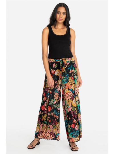 Johnny Was Plus Size Black Albany Pant C64620A1X