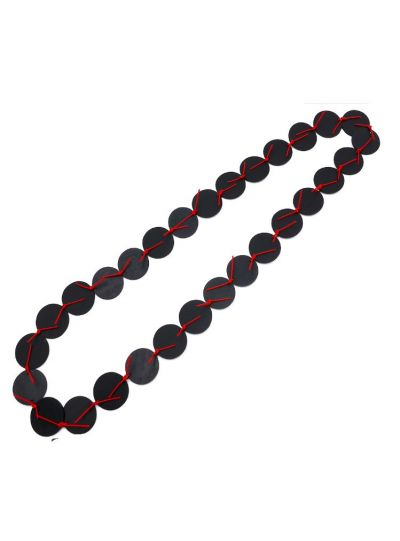 Materia Design Black/Red Circle Necklace NK.18.465