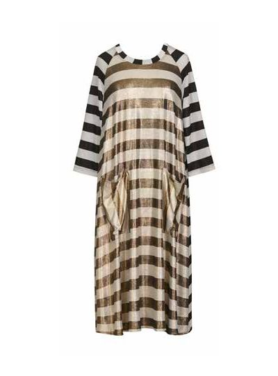 Alembika Resort Metallic Striped Dress RD602S