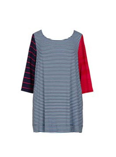 Alembika Resort Multi Striped Pullover Tunic RT314S