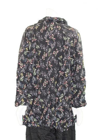 Comfy Plus Size Black Multi Floral Mindy Crushed Shirt CD140