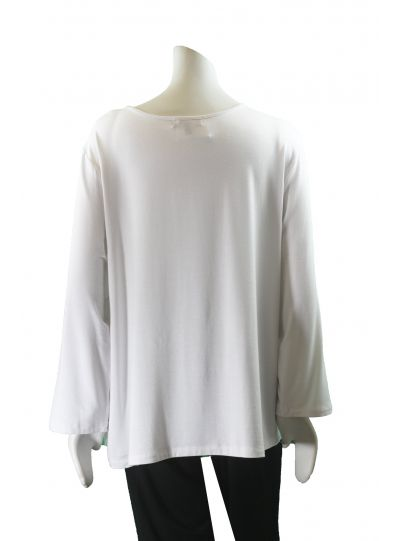 Comfy Plus Size White Crew Neck Tee WM111R