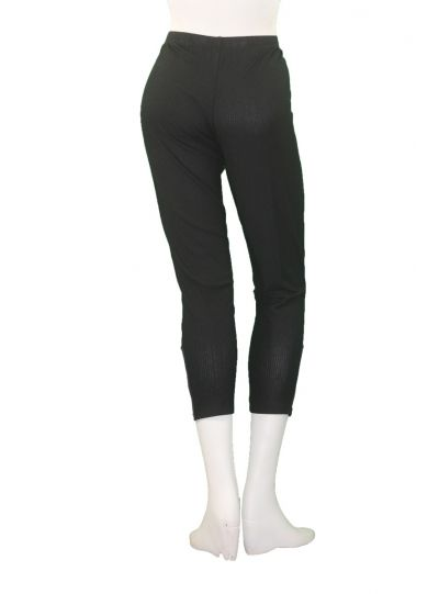 Comfy Plus Size Black Long Zipper Legging WM269P
