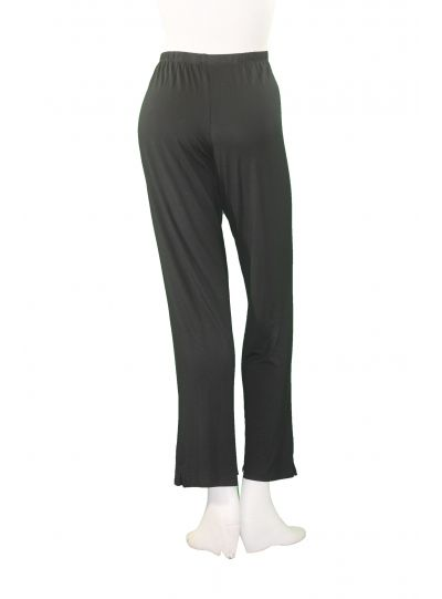 Comfy Plus Size Black Basic Narrow Pant WM283