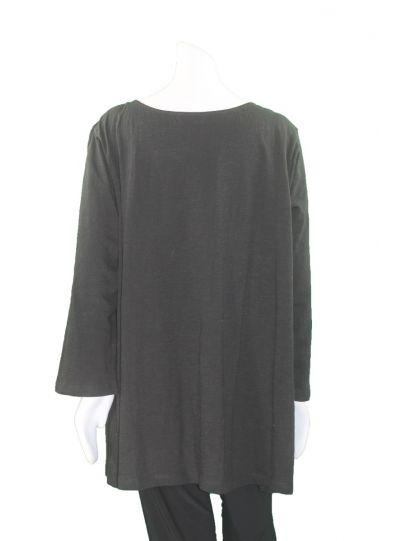 Caite Plus Size Black Angelique Top CTCO240