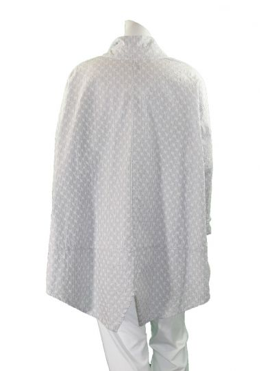 Dress to Kill One Size Grey/White Split Back Striped Stars Shirt