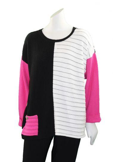 Margaret Winters Plus Size Multi Pullover Sweater FM591C