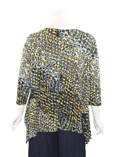 Comfy Plus Size Multi Abstract Vancover Tunic M790