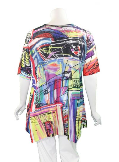 Et' Lois Plus Size Multi Long Swing Tunic C3300W-N13