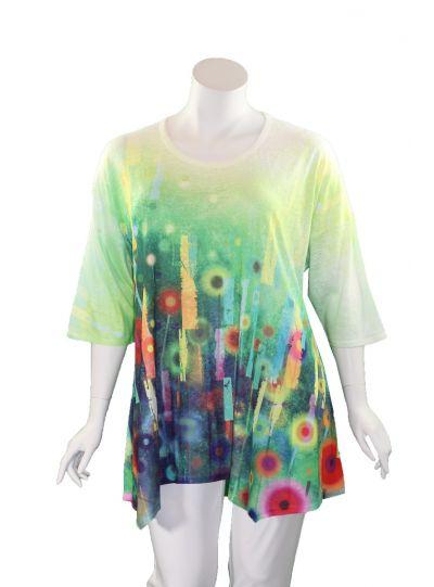 Et' Lois Plus Size Multi Printed Pullover Tunic C3281W-19-211