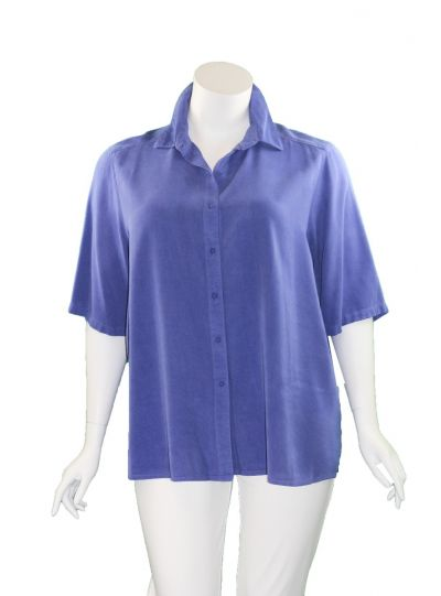Tianello Plus Size SAP Solid Camp Shirt T786P-19