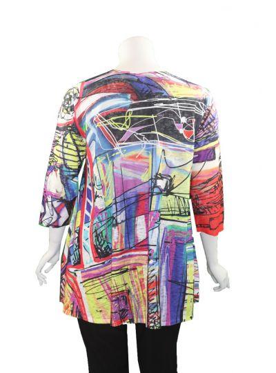 Et' Lois Plus Size Multi Printed Lowa Tunic C3071W-19-N13