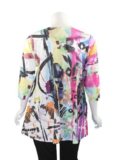 Et' Lois Plus Size Multi Printed Lowa Tunic C3071W-19-A38