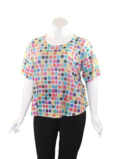 Et' Lois Plus Size Multi Dot Apple Tunic C2007-149