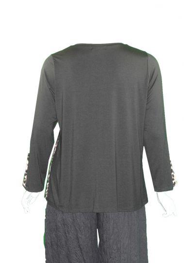 Comfy Plus Size Black/Leopard Michelle Tunic M1001