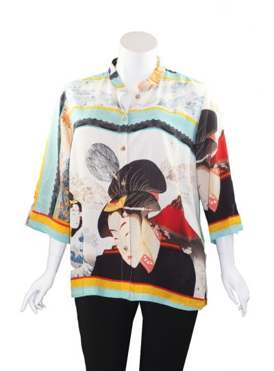Citron Plus Size Geisha Girl Shirt 1213FPB