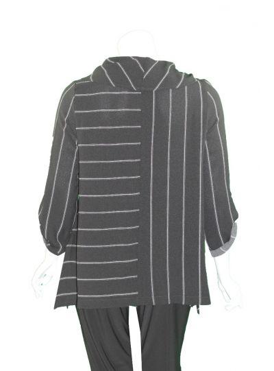 Moonlight Black/Grey Cowl Neckline Tunic 2090