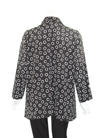 Christopher Calvin Plus Size Black/White Dot Shirt 7511