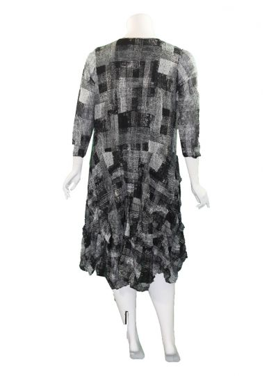 Comfy Plus Size Gray Plaid Gina Dress ES3025