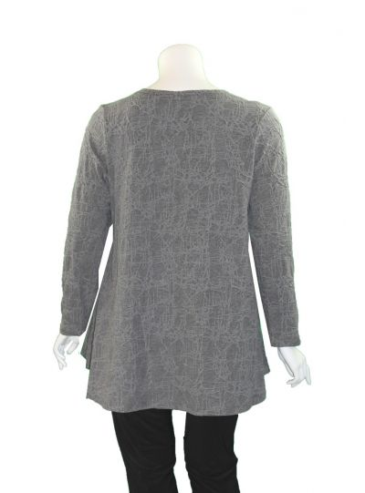 Niche Plus Size Grey Web Knit Gemma Top 84201