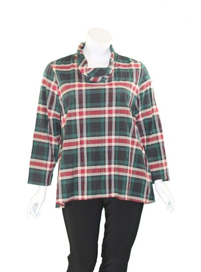 Niche Plus Size Plaid Dandelion Top 64758