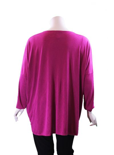 Q'Neel Plus Size Pink Pullover Over Sized Tunic 83088-8370