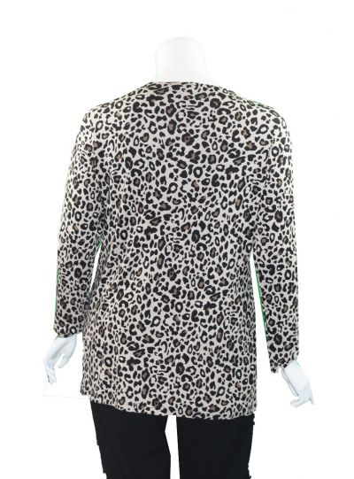 Doris Streich Plus Size Leopard V-Neckline Knit Tunic 245-141-84