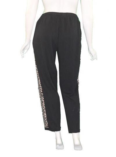 Doris Streich Plus Size Black/Leopard Cuff Pant 864-142-99