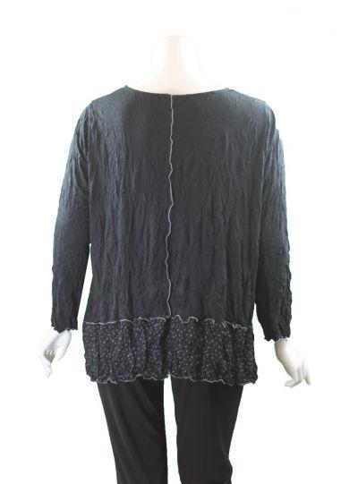 Chalet Plus Size Black Crinkle Garcia Tunic XCM83505