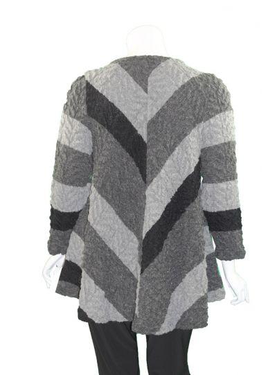 Ralston Plus Size Black/Grey Tavio Cardigan Sweater 78565