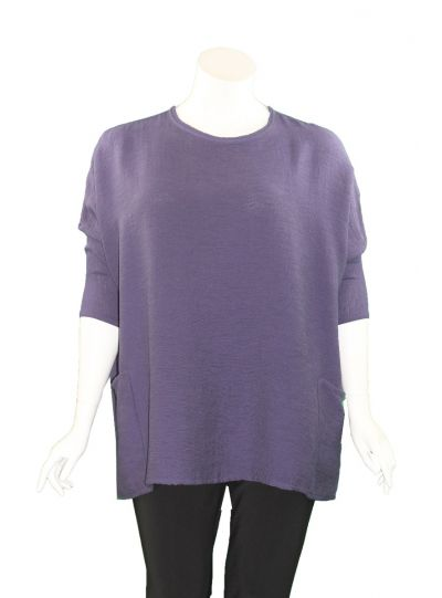 Cut Loose One Size Eggplant Pullover Tunic 6166024