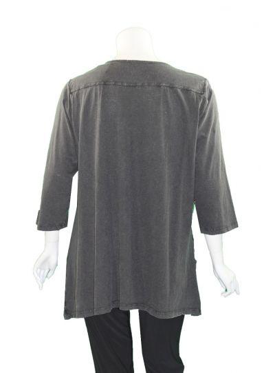 Caite Plus Size Grey Rony Tee CTC0362