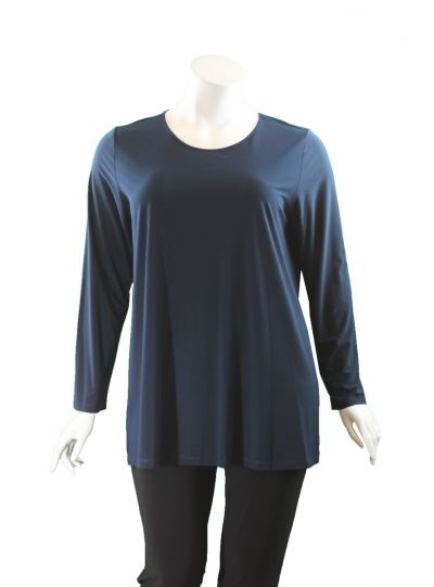 Comfy/Sum Kim Plus Size Denim L/S Tunic SK107