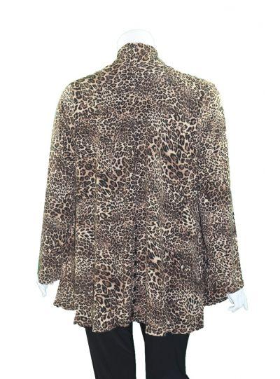 Comfy Plus Size Leopard Cardigan M1008