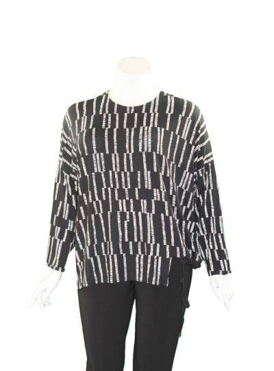 Avivit Yizhar Black/Tan Striped Top 4190