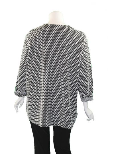 Christopher Calvin Plus Size Black/White Zip Jacket 7554