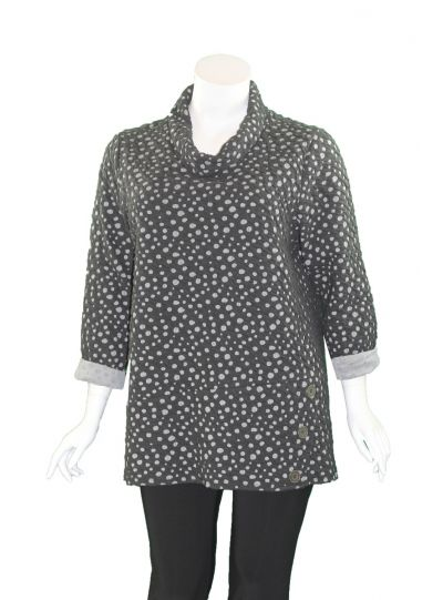 Chalet Plus Size Black Dot Baya Tunic XFD83478
