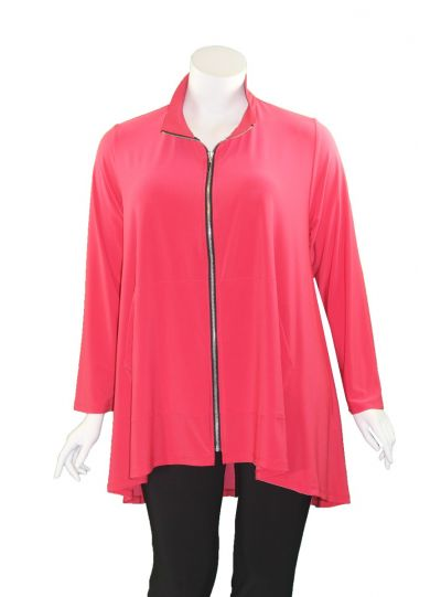 Sun Kim Plus Size PB Red Taylor Jacket WSK533