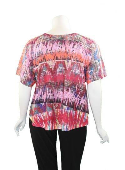 Et' Lois Plus Size Multi Printed Short Top C2007-2020 A35