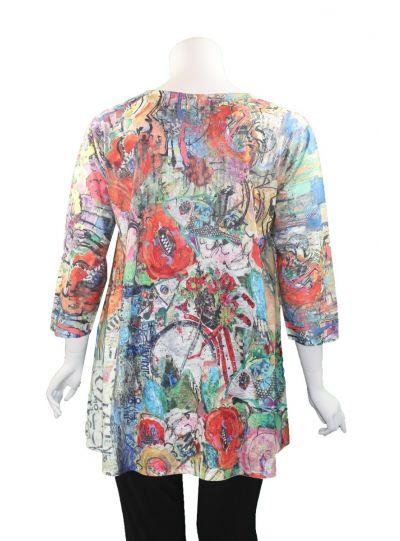 Et' Lois Plus Size Multi Printed Pullover Tunic C3071-2020 C04