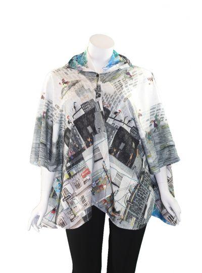 Inoah One Size City Reversible Rain Coat R100-RC6