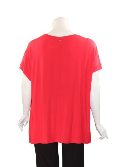 Q 'Neel Plus Size Red One Pocket Tunic 83153-2428-20