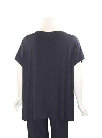 Q'Neel Plus Size Navy One Pocket Tunic 83153-2428-20